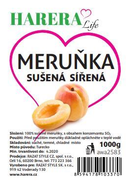 HARERA meruňky sušené sířené 1000g