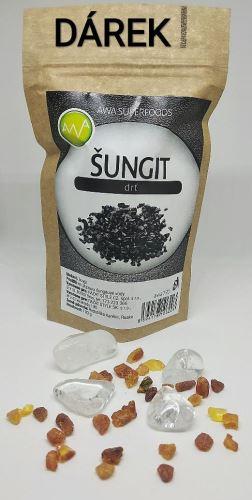 Přírodní sada na čištění vody křišťál, jantar + dárek šungit