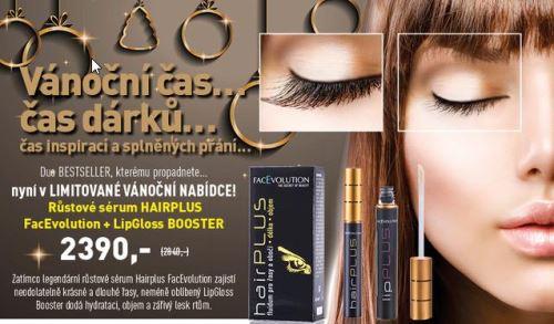 Hairplus růstové sérum a LipGloss Booster