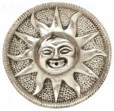 Stojánek na vonné tyčinky kov slunce