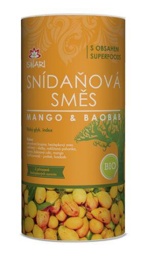 Iswari BIO RAW Snídaňová směs mango a baobab 800g