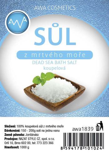 AWA cosmetics Sůl z Mrtvého moře koupelová 1000g