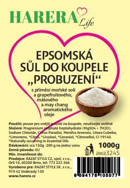 """Epsomská sůl do koupele """"Probuzení"""" 1000g"""