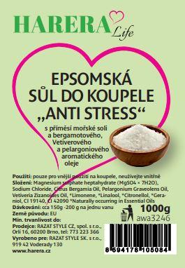 """Epsomská sůl do koupele """"Anti-stress"""" 1000g"""