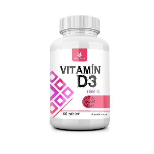 Vitamín D3 60 tablet Allnature