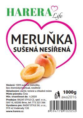 HARERA meruňky sušené nesířené 1000g