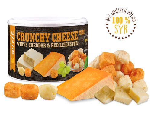 Mixit, směs křupavých  sýrů  White cheddar - Red Leicester 70g