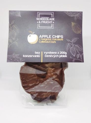 Jablečné chipsy v belgické čokoládě 50g