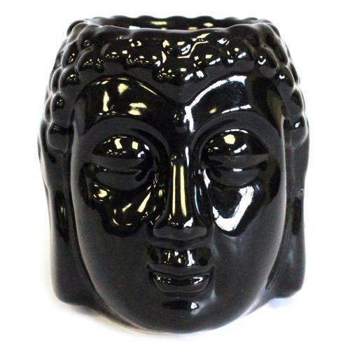 Aromalampa Hlava Buddha černá malá